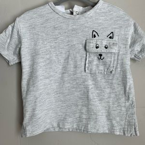 ZARA GRAY TEE/SHIRT | 6-9M